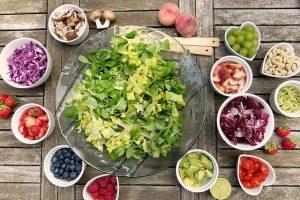aliments sur une table